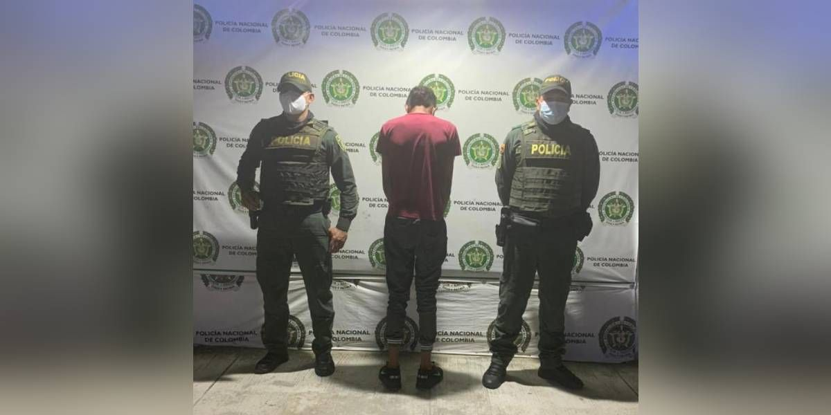 Menor detenido en Gaira.