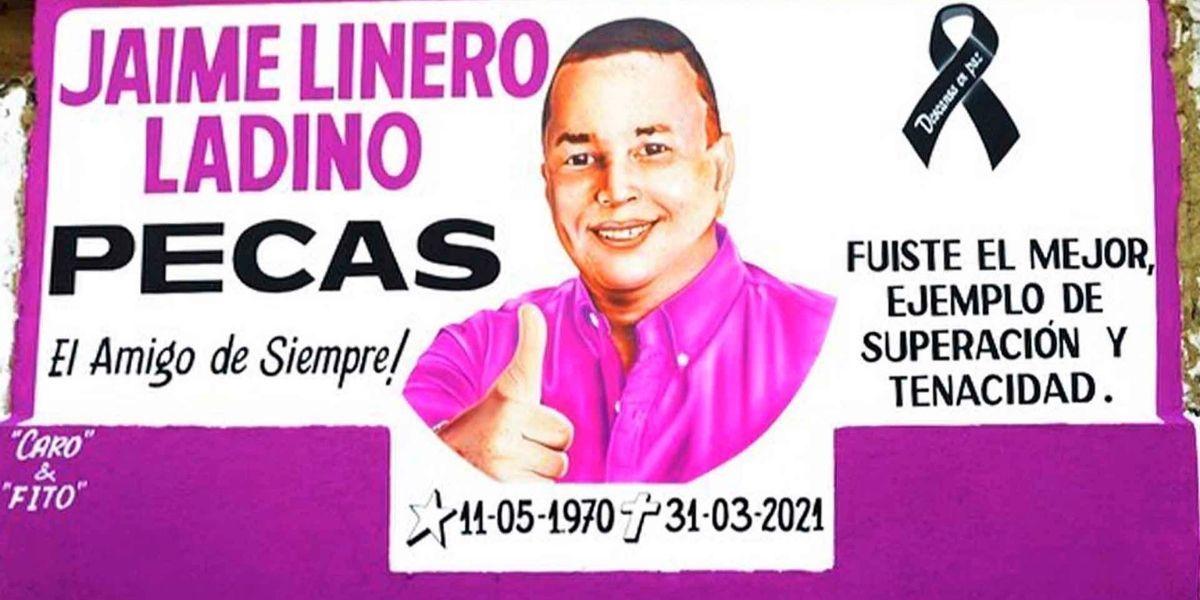 Mural en honor a Jaime Linero Ladino.