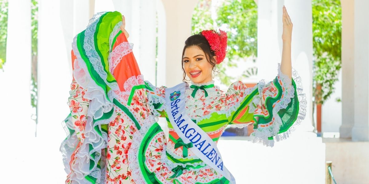 María Esperanza del Mar Narváez, señorita Magdalena en el festival nacional de la cumbia