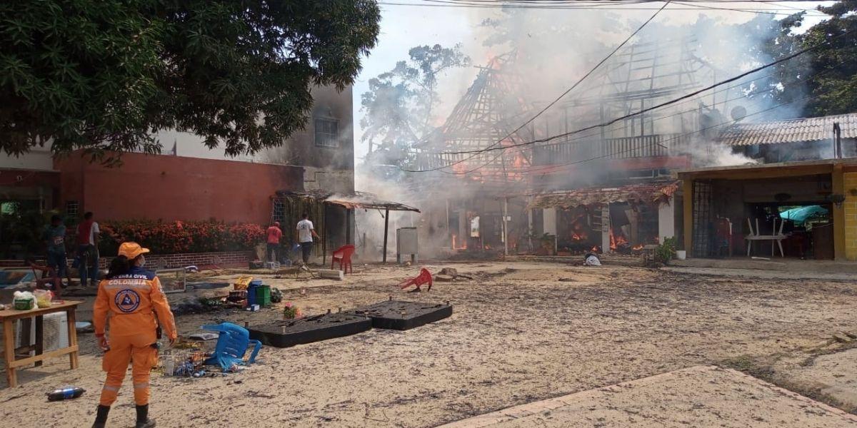 Incendio en Buritaca.