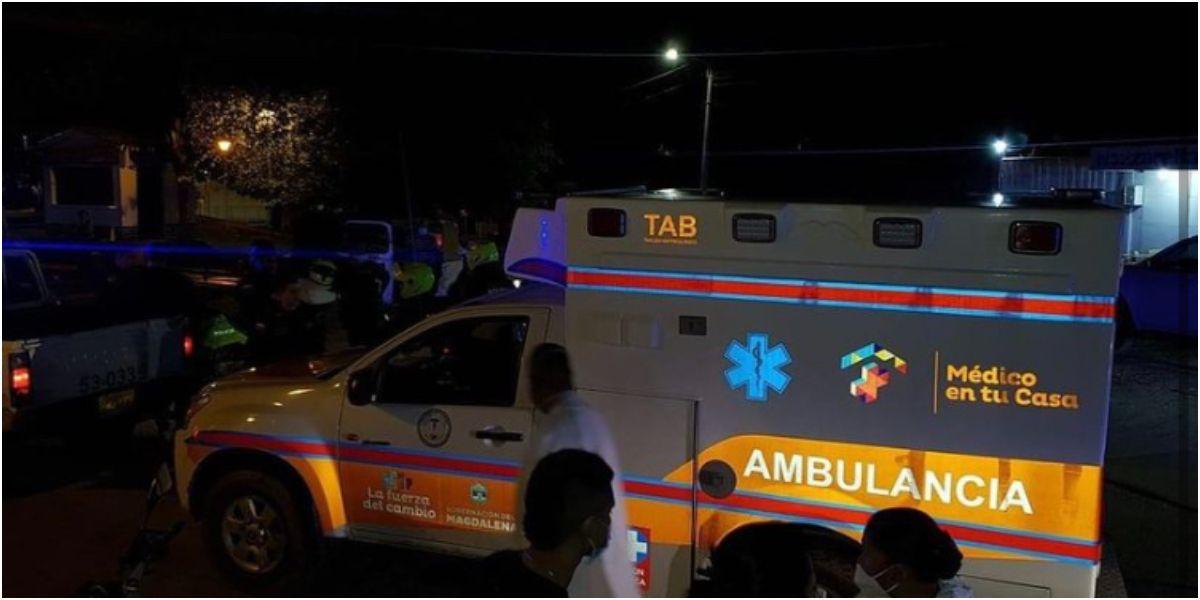 La ambulancia fue recuperada.