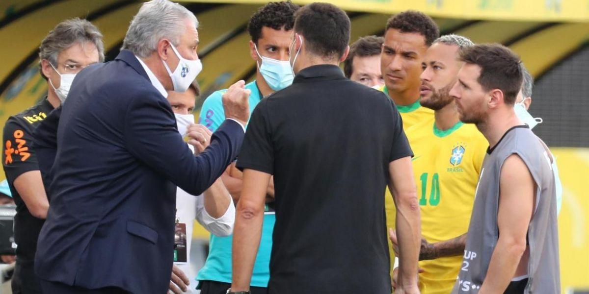 Escándalo en el partido Brasil - Argentina.
