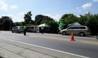 Seguridad vial brindada por la Policía departamental.