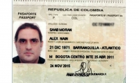 Pasaporte de Alex Saab Morán.