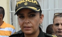 Comandante de la Policía Metropolitana Sandra Vallejos.