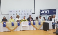 Lanzamiento de la vigésima primera edición del Festival Vallenato Indio Tayrona, en la Universidad Antonio Nariño en Santa Marta.