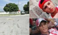 Fredy Ferney Padilla Martínez y Luis Alberto González Chiquillo, barristas muertos al caer de una tractomula.