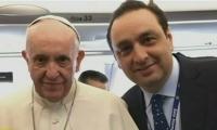 Jorge Alfredo Vargas con el Papa Francisco