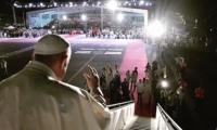 El Papa Francisco en su despedida de Colombia.