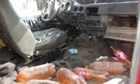 El interior de este vehículo estaba totalmente transformado con el fin de transportar la mayor cantidad de combustible.