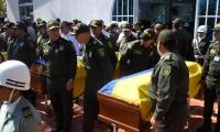 Ceremonia realizada en la capilla de la Escuela de la Policía Antonio Nariño.