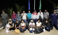 Personas rescatadas en el Golfo de Urabá.