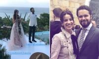 La actriz Laura Londoño se casó con su novio Santiago Mora.
