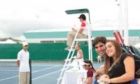 Cancha de Tenis, realizada para los Juegos Bolivarianos.