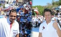 Carlos Mario Farelo (izq) y Rubén Jiménez (der) lideran la intención de voto.
