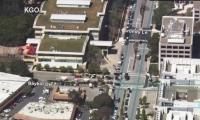 Captura de video de transmisión en vivo de los hechos en San Bruno.