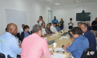 Aspecto de la reunión desarrollada en las instalaciones del Invemar