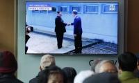Histórico saludo entre los presidentes de las Coreas.