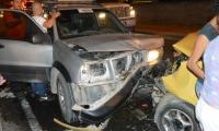 Choque en la Vía Alterna deja tres heridos.