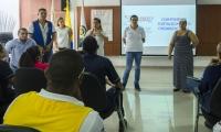 Reunión entre varios entes distritales para la conformación de los comités de discapacidad.