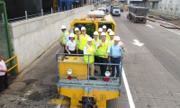El recorrido inició desde las instalaciones de Puerto de Santa Marta con una parada específica en los talleres de Fenoco.