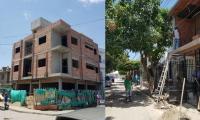 Obras selladas en el barrio Villa Marbella y Gaira.