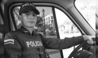 Leonel Pérez López, uniformado fallecido tras accidente de transito.