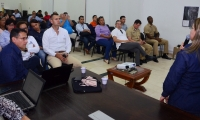 Segundo taller sobre el estudio de impacto ambiental para el trámite de licencia ambiental de las obras de certificación del aeropuerto Simón Bolívar.