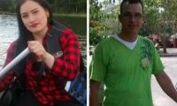 Flora Soniloa Grajales, joven asesinada por su esposo Reinaldo Mendoza Panchez, también muerto.