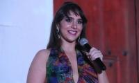Shadia Olarte, directora del  Indetur, en el evento de lanzamiento de la marca ciudad.