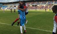 'Caballo' Márquez, celebrando el gol contra Cortuluá.