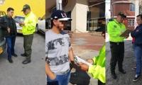Momentos de la captura del cantante y demás integrantes en Bogotá.