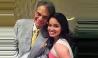 El cantante José José y su hija menor Sara Sosa.
