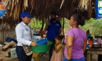 Unimagdalena se solidariza con damnificados por el invierno del corregimiento de Riofrío, Zona Bananera.