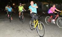 Imagen del Primer ciclo paseo nocturno en Santa Marta.