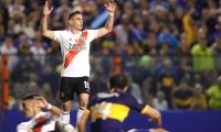 Rafael Santos Borré durante el partido.
