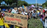 Imagen para ilustrar nota - Marcha en Santa Marta.