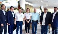 Los representantes de Odesur inspeccionan los posibles escenarios de las justas.