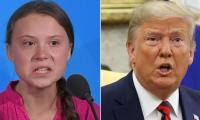 Greta Thunberg y Donald Trump