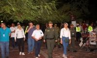 Alcaldía y Policía lideran la mega toma de seguridad en el Distrito.