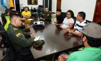 Esta fue la primera reunión de varias que sostendrá la Alcaldía con los hinchas.