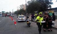 Puntos de control de pico y placa en Bogotá
