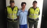 Nelson Enrique Mazo Campo, capturado con 13 kilos de Marihuana