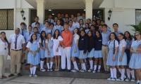 Estudiantes del colegio Bilingüe de Santa Marta.