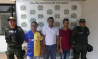 Los tres presuntos integrantes 'Los Pachenca'.