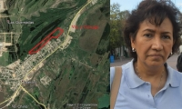 En la parte roja es donde está la invasión, así lo explicó Luz Elvira Angarita, directora de Parques Naturales en la Costa.