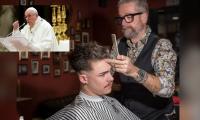 Papa le envía mensaje a los peluqueros