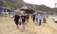 La jornada de limpieza se realizó este miércoles en Playa Blanca