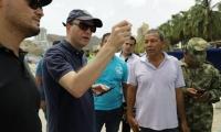 El Alcalde Encargado supervisó el desarrollo de la temporada turística en El Rodadero.