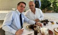 Jair Bolsonaro, presidente de Brasil, y Yossi Sheli, embajador de Israel en Brasil.